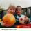 simulation of what someone with cataracts see -- blurry view of two boys