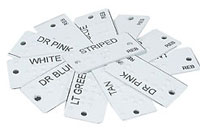 Aluminum braille clothing tags
