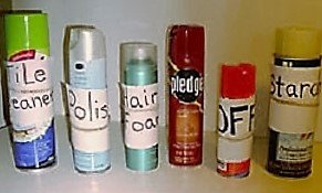 labeled cans