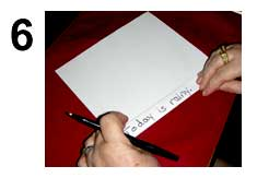 Write on the next folded line