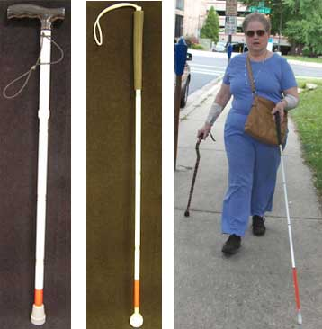 One type of mobility support cane (credit: Wikipedia)