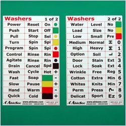 Washing machine labels