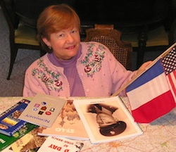 Kaye in 2001 doing research on the WWII 9th Infantry Division Normandy campaign