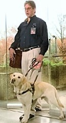Jeff with his guide dog Vincenzo