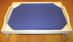 Tray with contrasting placemat