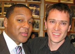 Ben   Karpilow with Grammy Award-winning jazz trumpeter Wynton Marsalis