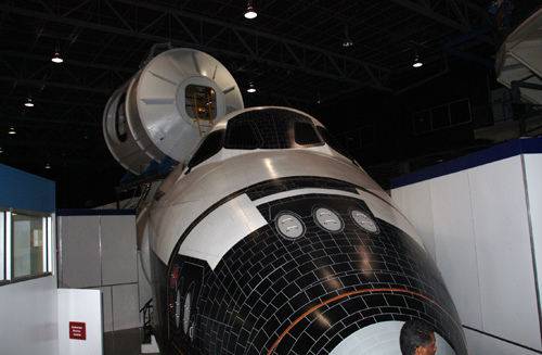 mock space shuttle exterior
