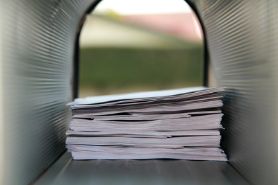mailbox full of letters