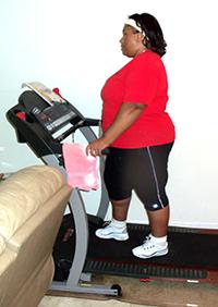 Empish on a home treadmill