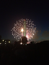 Independence Day fireworks over the National Mall