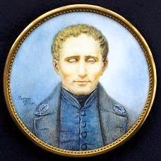 miniature portrait of Louis Braille