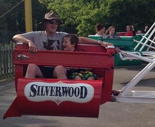 Eddie, Dad on Scrambler ride