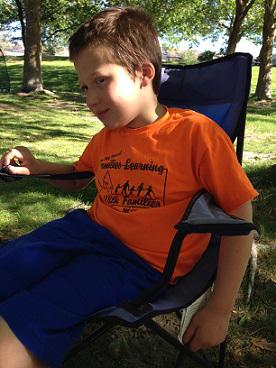 Eddie sitting in camping chair