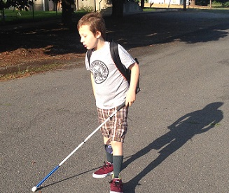 eddie walking to school