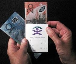 Australian cash test device card