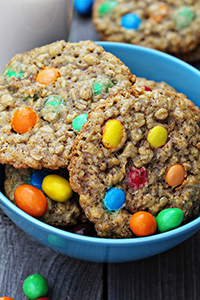 cookies with colorful candy mixed in