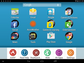 homepage with realpad apps