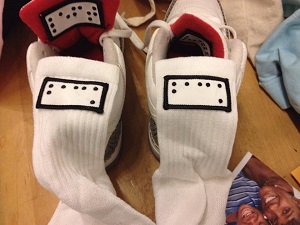 braille labels for socks and shoes