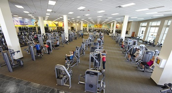 exercise room with stationary bikes