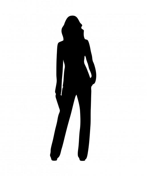 Black silhouette defining a female body shape. source: openclipart.org/media/people/nicubunu nic