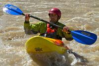 Erik Weihenmayer kayaking