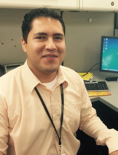 Irwin Ramirez at his desk