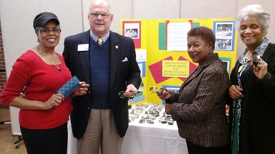 left to right: Shirley Rogers, VIP Program Coord, Mr. Dean Durden, Alabama Lions Club, Mrs. Annie Bascomb, GLC Director, Mrs. Mary Harris, Macon County RSVP