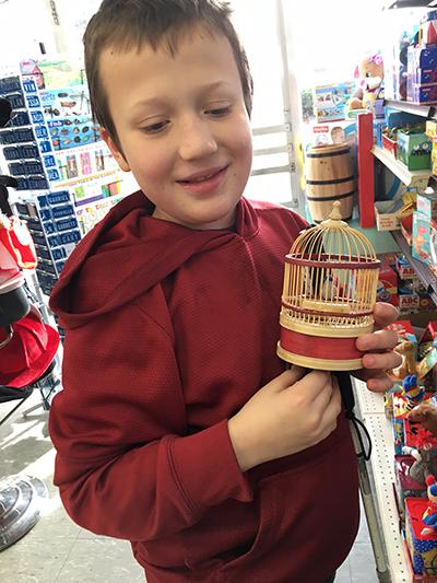 Eddie with birdcage