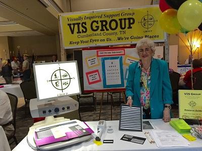 Board Member Fann Burrus exhibits at health fair