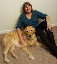 Sheila Rousey and her guide dog