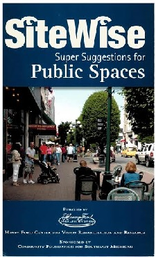 SiteWise Public Spaces Pamphlet with street scene
