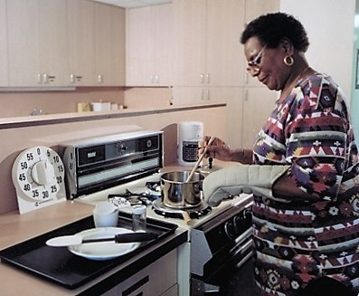 a woman cooking with adaptations