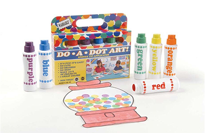 Image of a package of Do-A-Dot Markers in bright colors