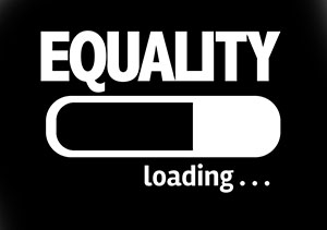 Progress bar loading with the word Equality