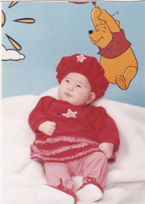 Michelle Youngue as a baby