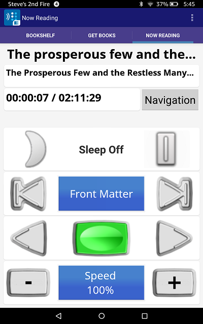 screen shot of bard app on kindle