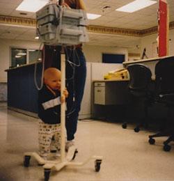 Jake learning to walk as toddler