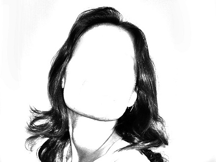 woman with no face