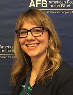 Headshot of Emily Coleman at the 2017 American Foundation for the Blind Leadership Conference