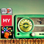 logo featuring picture of radio a book that says REID and image of brain signifying my mind