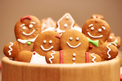 homemade gingerbread cookies on a table