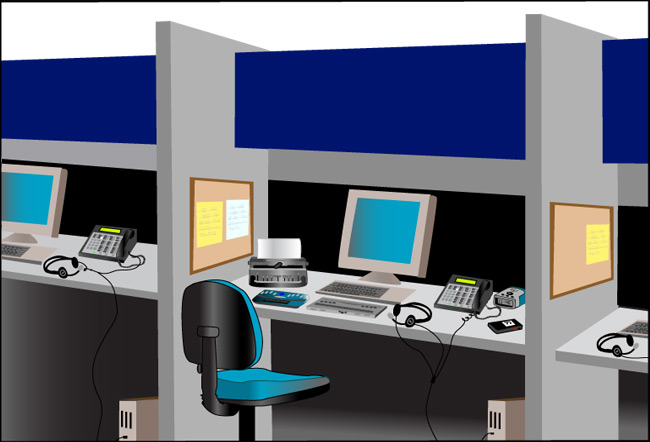 Call Center for Blind Users