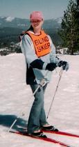 Tara Annis skiing in Truckee, California at Donner Pass