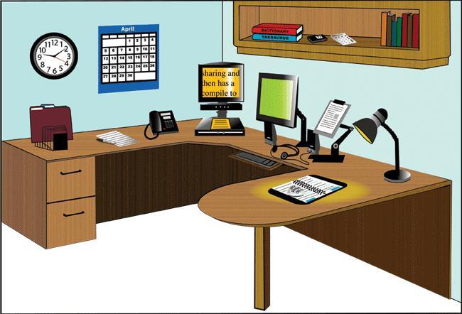 Virtual Office - Low Vision illustration